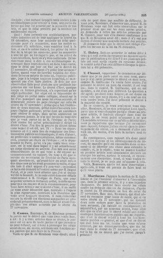 Tome 22 : Du 3 janvier au 5 février 1791 - page 505