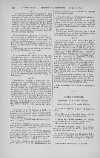 Tome 22 : Du 3 janvier au 5 février 1791 - page 522