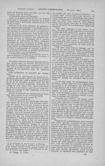 Tome 22 : Du 3 janvier au 5 février 1791 - page 561