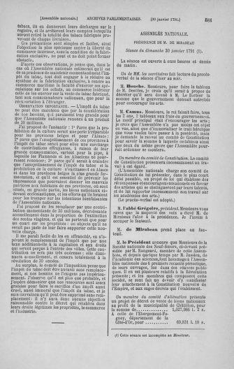 Tome 22 : Du 3 janvier au 5 février 1791 - page 581