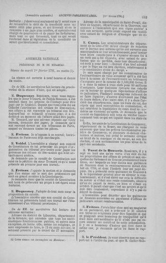 Tome 22 : Du 3 janvier au 5 février 1791 - page 653