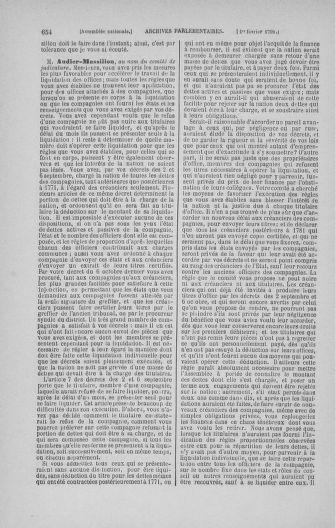 Tome 22 : Du 3 janvier au 5 février 1791 - page 654