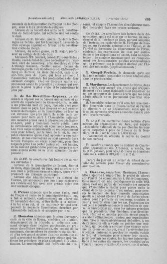 Tome 22 : Du 3 janvier au 5 février 1791 - page 665