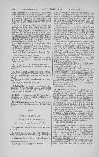 Tome 22 : Du 3 janvier au 5 février 1791 - page 738