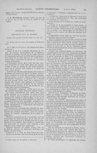 Tome 22 : Du 3 janvier au 5 février 1791 - page 765