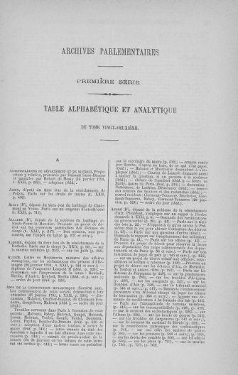 Tome 22 : Du 3 janvier au 5 février 1791 - page ..
