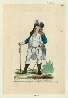 A ces traits on reconnait D. P. et O. bon patriote et l'ennemie juré des aristocrates, on lui doit cette justice car en plusieurs occasions il l'a prouvé [estampe]