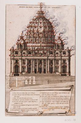 Prospetto del Tempio Vaticano con suoi fondamenti