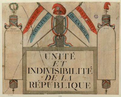 Unité et indivisibilité de la République [estampe]