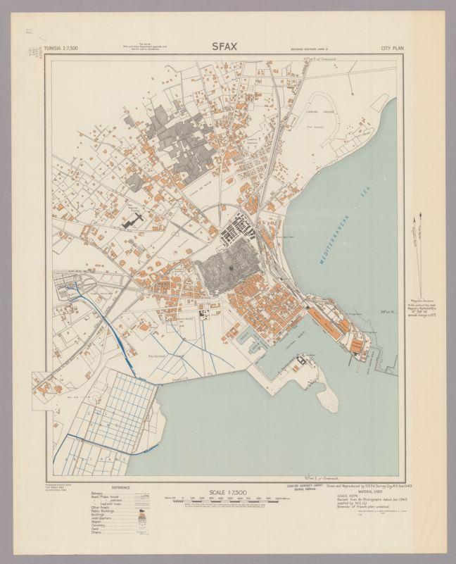 Sfax; city plan