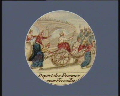 Depart des femmes pour Versailles [estampe]
