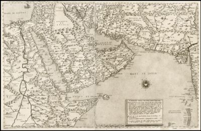 Il Disegno Della Seconda Parte Dell' Asia [Gastaldi's Map of Arabia etc. ]