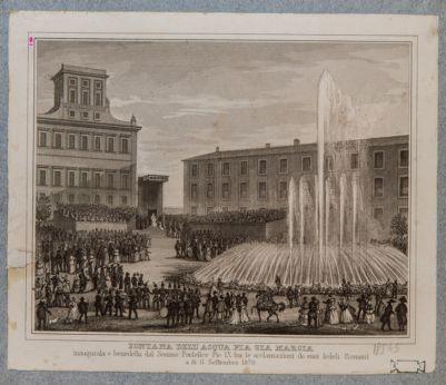 Piazza delle Terme, fontana Pia