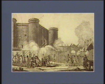 Prise de la Bastille par les bourgeois et les braves gardes françaises de la bonne ville de Paris, le 14 juillet 1789 dédiée à la nation... : [estampe]