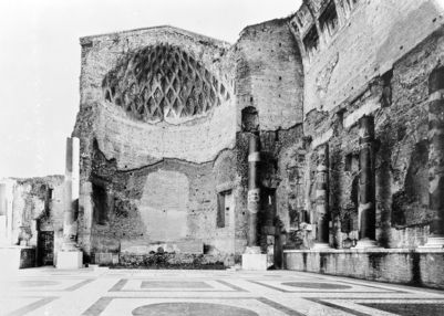 Temple of Venus and Rome, the cella of Rome, with the marble floor of the time of Maxentius