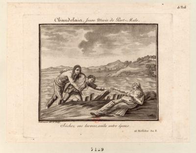 Chandelais, Jeune Marin de Port-Malo Séchez vos larmes, voila votre époux. 26 Messidor An 8 : [estampe]