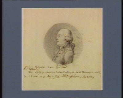Fr.ois Celestin de Loynes chevalier de La Coudraye député de Poitou né à Fontenay-le-Comte le 29 mai 1743... : [dessin]