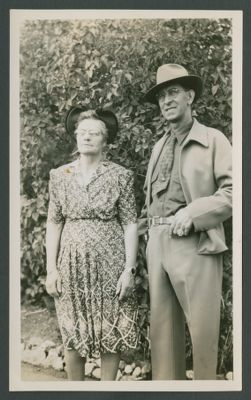 Lu Watters' parents, 1930's