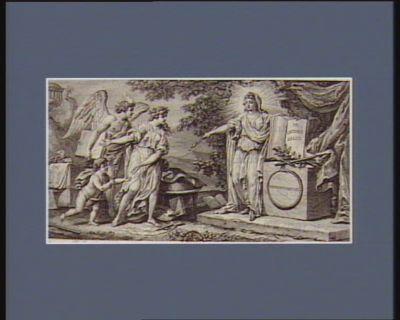 La  Muse des Beaux-Arts met sous la protection de la Loi, le Génie, l'Etude et le Commerce adresse à l'Assemblée nationale par les graveurs et propriétaires de planches gravées... : [estampe]
