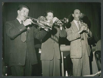 Turk Murphy Jazz Band front line Turk Murphy, Ev Farey, Bob Helm