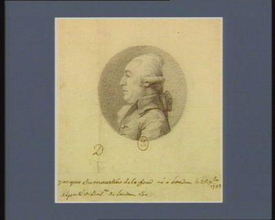 Jacques Du Moustier de La Fond né à Loudun le 26 X.bre 1733 député du bail. ge de Loudun : [dessin]