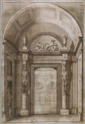 Museo Vaticano. Museo Pio Clementino, veduta generale di un braccio del museo