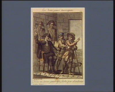 Les  Deux jeunes auvergnats nous ne serons jamais assez lâches pour abandonner notre pays. 10 7.bre 1791 (v.s.) : [estampe]