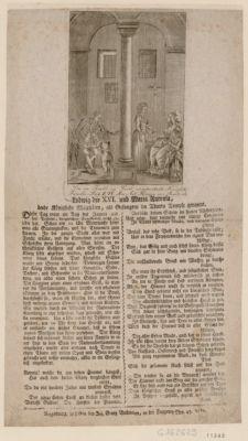 """Die  im Temble zu Paris eingekerckerte Königliche Familie Louy"""" XVI . Mar. Ant. Königen von Frankreich [estampe]"""