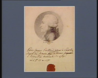 Pierre Jacques Vieillard avocat a Saint Lô député du Cotentin [pour] Coutances à l'Assemblée nationale de 1789 né à Saint Lô en 1756 : [dessin]
