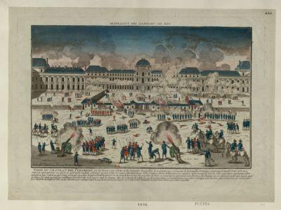 Siege du chateau des Tuilleries par les braves sans culottes et les intrépides Marseillois le 10 aoust 1792 [estampe]