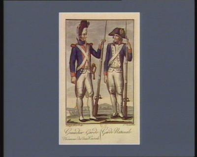 Grenadier garde d'honneur des deux Conseils. Garde nationale [estampe]
