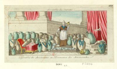 Assemblee des Capucins l'assemblée des aristocrates, ou l'harmonica des aristocruches : [estampe]