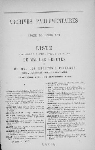 Tome 34 : Du 1er octobre au 10 novembre 1791 - page 1