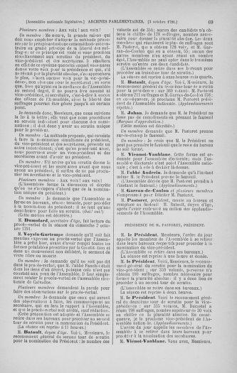 Tome 34 : Du 1er octobre au 10 novembre 1791 - page 69