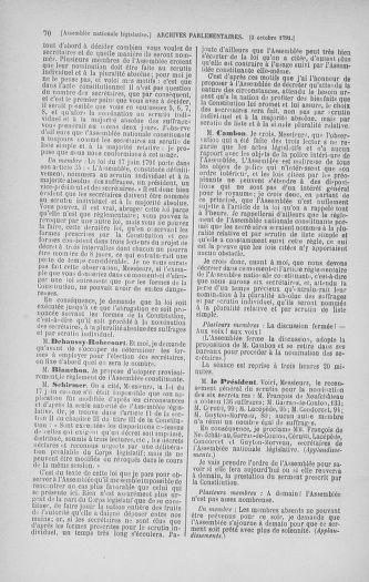 Tome 34 : Du 1er octobre au 10 novembre 1791 - page 70