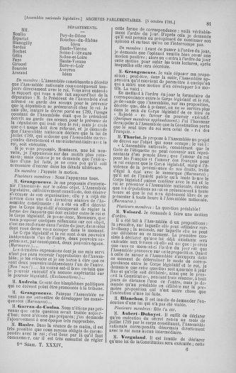 Tome 34 : Du 1er octobre au 10 novembre 1791 - page 81