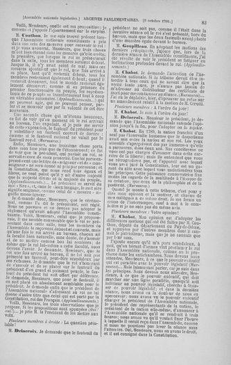 Tome 34 : Du 1er octobre au 10 novembre 1791 - page 83