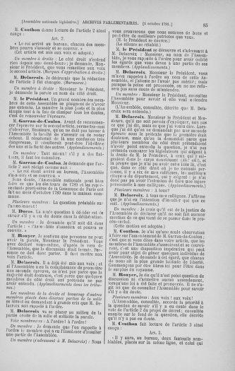 Tome 34 : Du 1er octobre au 10 novembre 1791 - page 85