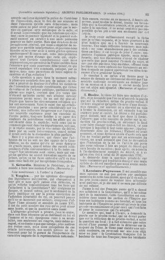 Tome 34 : Du 1er octobre au 10 novembre 1791 - page 95