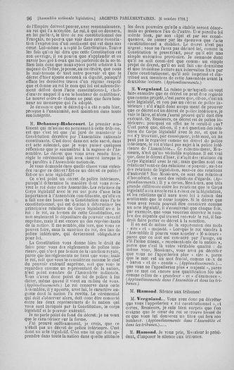 Tome 34 : Du 1er octobre au 10 novembre 1791 - page 96