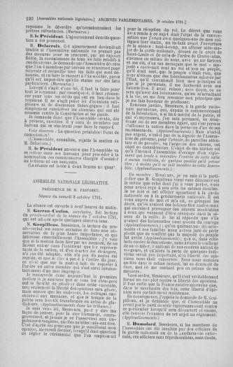 Tome 34 : Du 1er octobre au 10 novembre 1791 - page 120