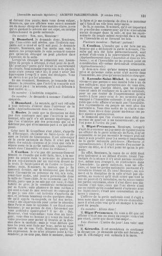 Tome 34 : Du 1er octobre au 10 novembre 1791 - page 121