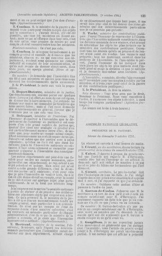 Tome 34 : Du 1er octobre au 10 novembre 1791 - page 135