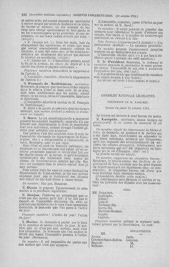 Tome 34 : Du 1er octobre au 10 novembre 1791 - page 198