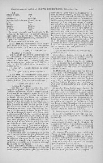 Tome 34 : Du 1er octobre au 10 novembre 1791 - page 199