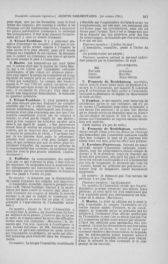 Tome 34 : Du 1er octobre au 10 novembre 1791 - page 217