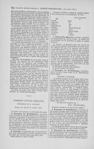 Tome 34 : Du 1er octobre au 10 novembre 1791 - page 234