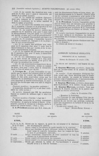 Tome 34 : Du 1er octobre au 10 novembre 1791 - page 244
