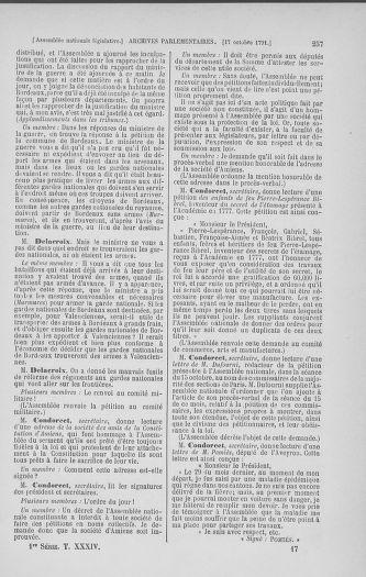 Tome 34 : Du 1er octobre au 10 novembre 1791 - page 257
