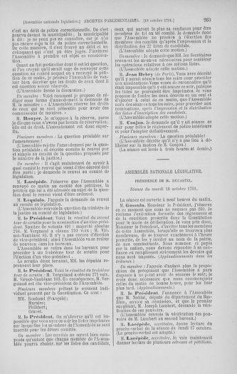 Tome 34 : Du 1er octobre au 10 novembre 1791 - page 263